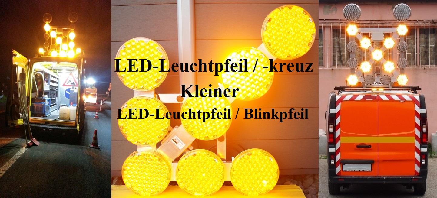 LED-Leuchtpfeil-Kreuz Kleiner LED-Leuchtpfeil-Blinkpfeil